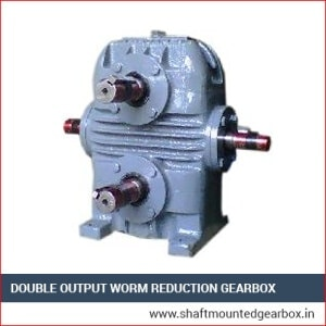 Double Output Worm Reduction Gearbox Exporter India