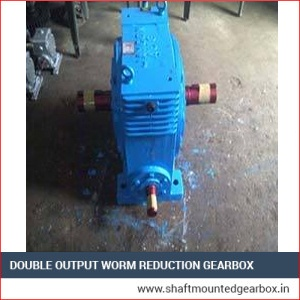 Double Output Worm Reduction Gearbox Ahmedabad