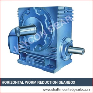 Horizontal Worm Reduction Gearbox Exporter